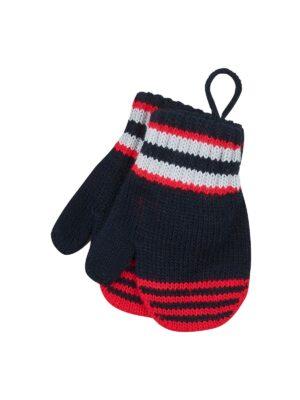 Перчатки Margot Bis для мальчика Красные, Черные