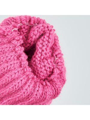 Перчатки Margot Bis для девочки розовые, Серый