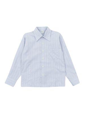 Рубашка для мальчика голубая полоска Pacco