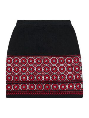 Спідниця для дівчинки в'язана вишиванка SOFline демісезон
