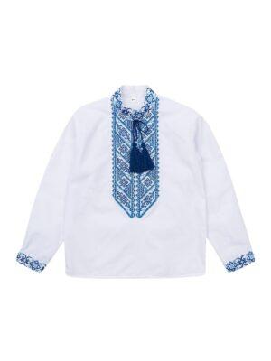 Вышиванка для мальчика голубая вышивка Василько Сварга