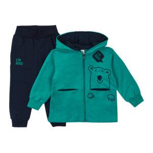 Костюмчик для хлопчика зелений верх синій низ Арт. 0309 HOITY -TOITY