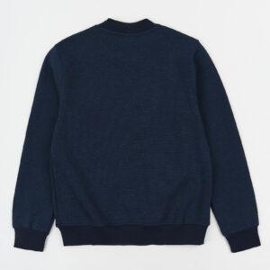 Бомбер для мальчика школьного возраста на молнии синий меланж Арт.0899 Cegisa