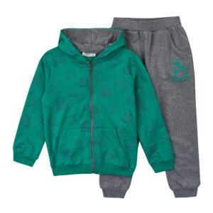 Спортивний костюмчик для хлопчика зелено сірий Арт. 16084 Breeze