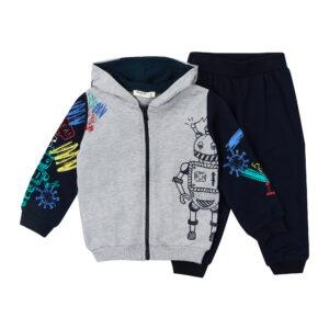 Спортивний костюм для хлопчика сірий з синім Арт. 16085 Breeze