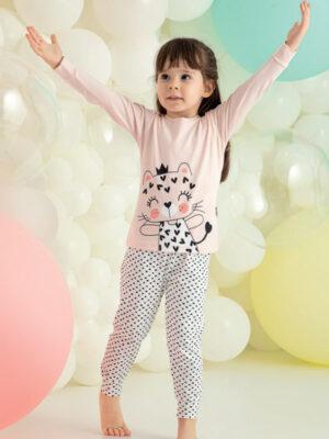 Пижама для девочки длинный рукав 210 Арт. Kazan bebe