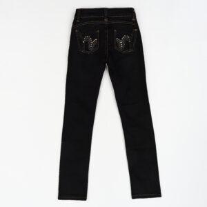 Штани для дівчинки джинсові чорні Арт.3157 Marions