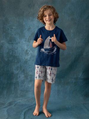 Піжама для хлопчика річна верх синій Арт. 940 Kazan bebe