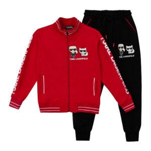 Спортивный костюм верх красный низ черный Арт. 2710 Турция Fagiss