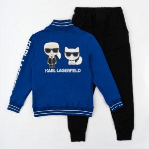Спортивный костюм для мальчика верх темно синий верх низ черный Арт. 2710-2 Турция Fagiss