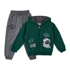 Костюм для хлопчика зелено сірого кольору Арт.0879-1 HOITY -TOITY