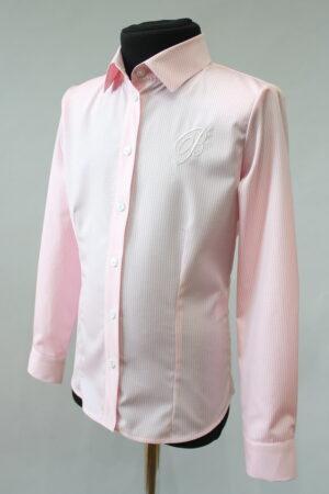 Блузка для дівчинки рожева в смужку бавовняна 087-69 Велма