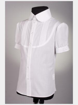 Блуза для девочки белая короткий рукав 192 Велма