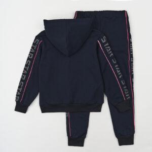 Спортивний костюм для дівчинки синьо рожевий Арт. 87737 Grace