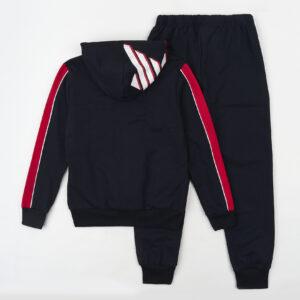 Спортивний костюм для хлопчика темно синій з кишенею на грудях Арт.88019-1 Grace