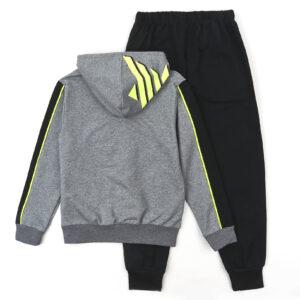 Спортивний костюм для хлопчика сірий Арт.88019 Grace