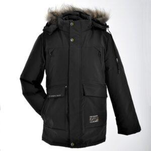 Куртка чорна хлопчача парку Арт. D07 Liwubo