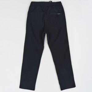 Брюки черные теплые на начесе для мальчика котоновые на шнурке Арт.1030 Cegisa