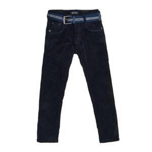 Брюки синие вильветовые для мальчика на флисе Арт. 89971-1 Seagull