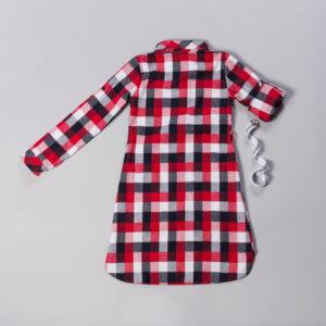 Туніка для дівчинки в синьо червону клітку Арт.GG-1 Benini