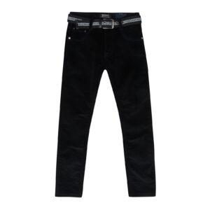 Брюки черные вильветовые для мальчика на флисе Арт. 89971 Seagull
