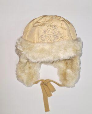 Шапка для девочки зимняя плащевка с мехом Арт. Sniezka Pupill