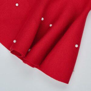 Юбка для девочки трикотажна вязка красная Арт. 3017 Deloras