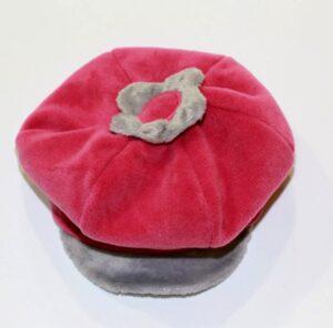 Берет для девочки флисовый беретик яркий малиновый Lilka-1 Pupill